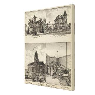 Residences, Abilene, Kansas Gallery Wrapped Canvas