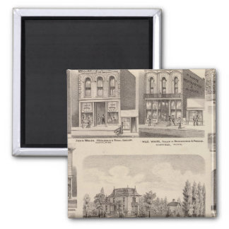 Residences and Businesses in Austin, Minnesota Square Magnet