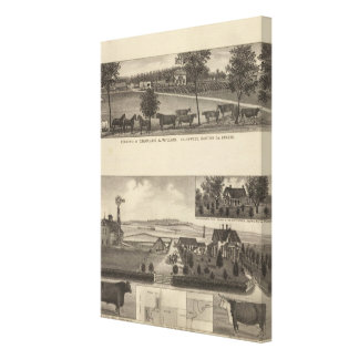 Residences and Farms, Edgerton, Kansas Stretched Canvas Print