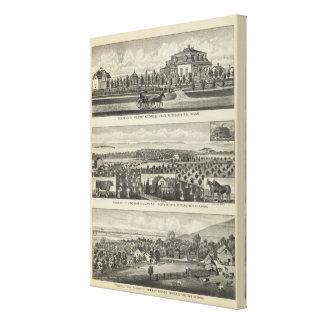 Residences and Farms, Onaga, Kansas Canvas Print