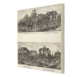 Residences, Florence, and Hillsboro, Kansas Gallery Wrapped Canvas