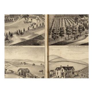 Residences of John Turner, AC Shelton, H Wilsey Postcard