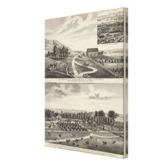 Residences of Pierce and Cooper, Kansas Stretched Canvas Prints