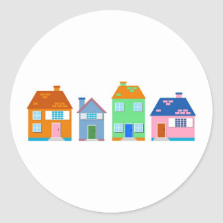 Residential Homes Classic Round Sticker