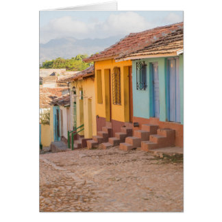 Residential houses, Trinidad, Cuba Card
