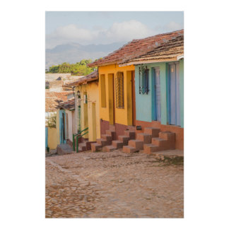 Residential houses, Trinidad, Cuba Poster