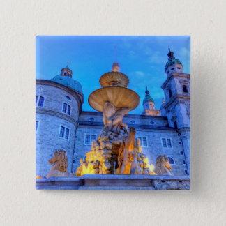 Residenzplatz in Salzburg, Austria 2 Inch Square Button