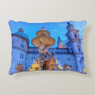 Residenzplatz in Salzburg, Austria Accent Pillow