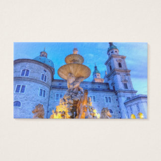 Residenzplatz in Salzburg, Austria Business Card