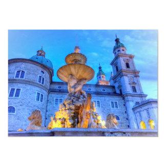 Residenzplatz in Salzburg, Austria Card