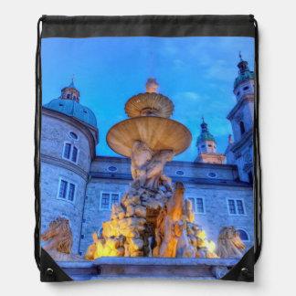 Residenzplatz in Salzburg, Austria Drawstring Bag