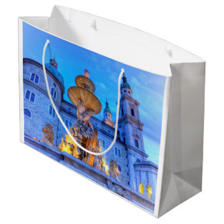 Residenzplatz in Salzburg, Austria Large Gift Bag