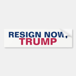 Resign Now, Trump Resist Bumper Sticker