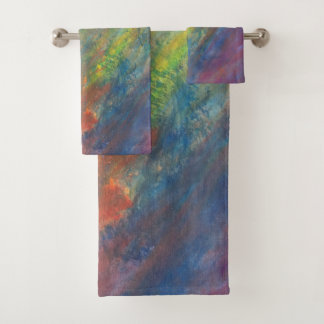 Resilient Bath | Watercolor Rainbow Abstract | Bath Towel Set