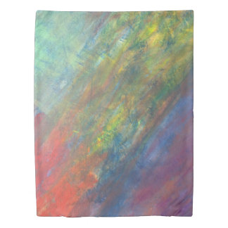 Resilient Bed | Watercolor Rainbow Abstract | Duvet Cover