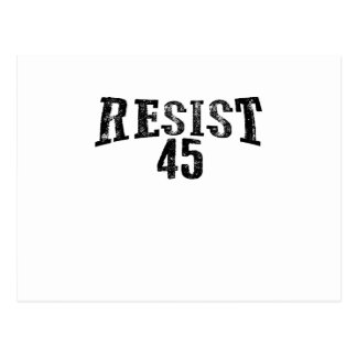 Resist 45 Trump Protest Postcard