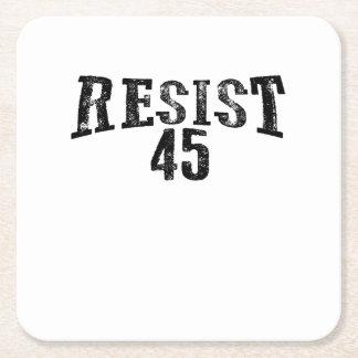 Resist 45 Trump Protest Square Paper Coaster