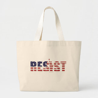Resist Anti-Trump Resistance Freedom Large Tote Bag
