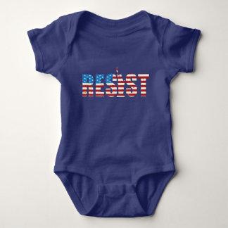 Resist Anti Trump Resistance Persist 2 Baby Bodysuit