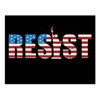 Resist Anti Trump Resistance Persist 2 Postcard