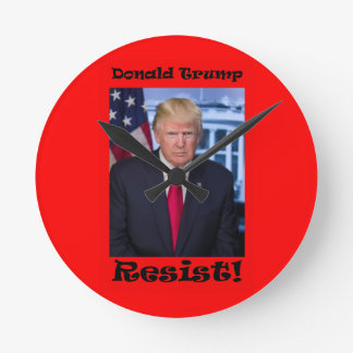 Resist - Anti Trump Round Clock