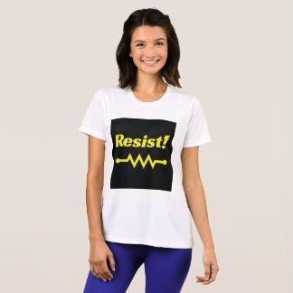 Resist! athletic t-shirt (black/yellow)