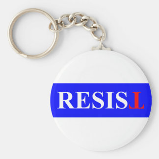 Resist Basic Round Button Keychain