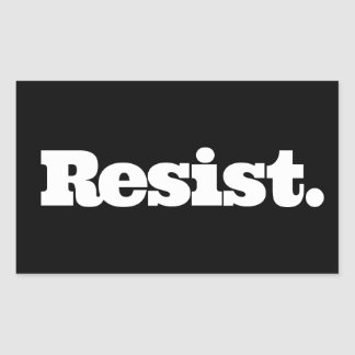RESIST Black Sticker