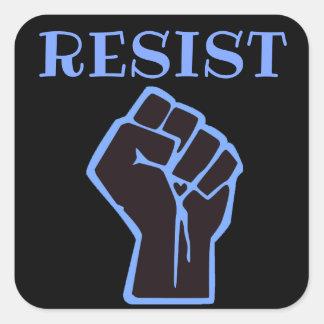 Resist blue and Black Fist Anti Trump Square Sticker