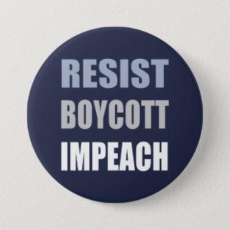 Resist Boycott Impeach Trump 3 Inch Round Button