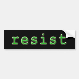 Resist Bumper Sticker