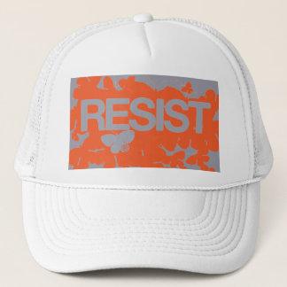 RESIST - Butterflies Orange Solid Trucker Hat