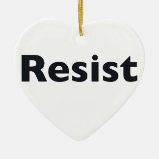 Resist Ceramic Heart Ornament