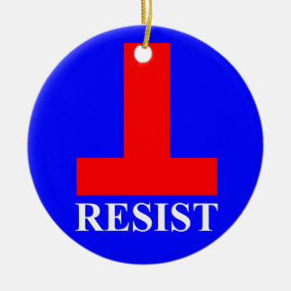 Resist Ceramic Ornament