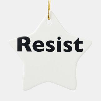 Resist Ceramic Star Ornament