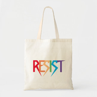 Resist Colorful Rainbow Tote Bag