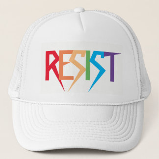 Resist Colorful Rainbow Trucker Hat