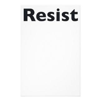 Resist Custom Stationery