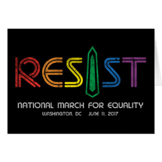Resist Dark Greeting Card