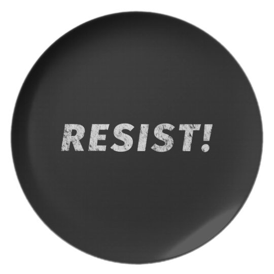 Resist! (Distressed) Plate