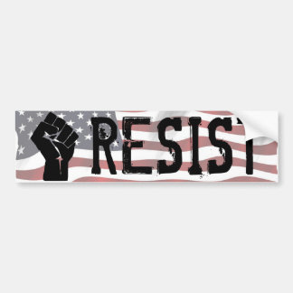 "Resist Donald Trump Shirt ""Resist Fist"" Bumper Sti Bumper Sticker"