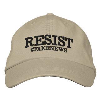 Resist #Fakenews Hat Embroidered Baseball Cap