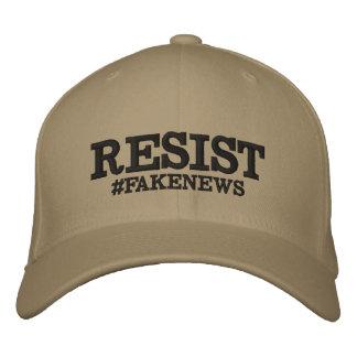 Resist #Fakenews Stretch Hat Embroidered Baseball Cap