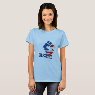 Resist Fist, American Flag - Patriotic T-Shirt