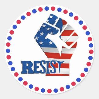 Resist Fist Anti Trump Movement Stickers