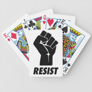 resist fist bicycle playing cards