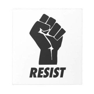 resist fist notepad