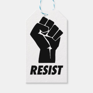 resist fist pack of gift tags