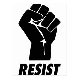resist fist postcard