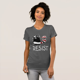 Resist Fist Raccoon Anti Donald Trump Women Shirt